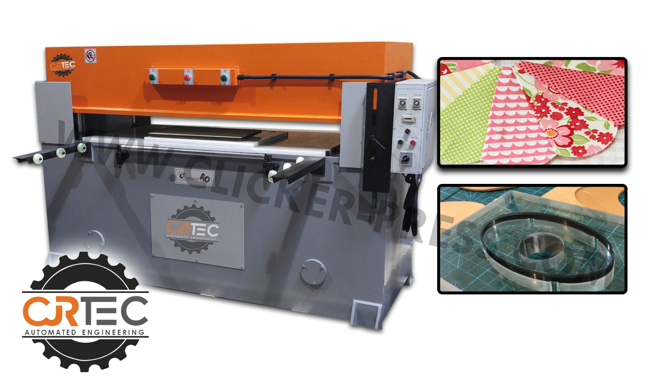 beam press machine with die cut steel and die cut materials